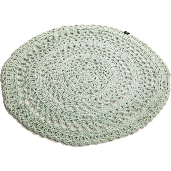 Hæklet tæppe grøn